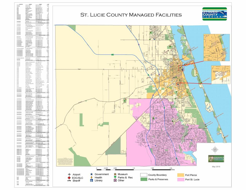 Map Gallery St Lucie County FL - Florida map ft pierce