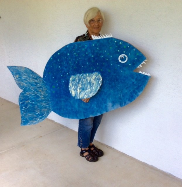 Judy with Blue Fish