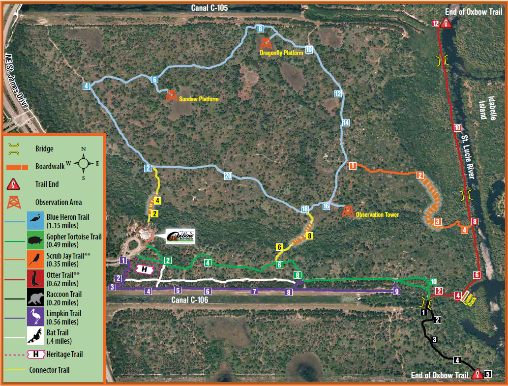 Oxbow Eco-Center Trail Map