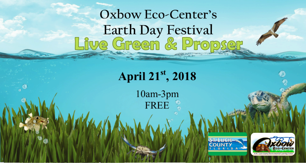 Oxbow Eco-Center Earth Day Banner