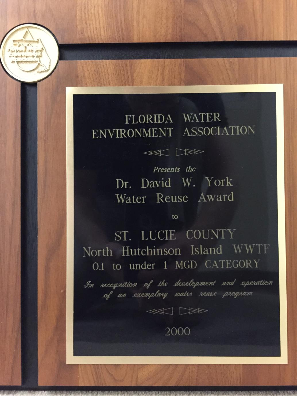 2000 Water Reuse Award