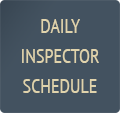DAILY INSPECTOR SCHEDULE BUTTON