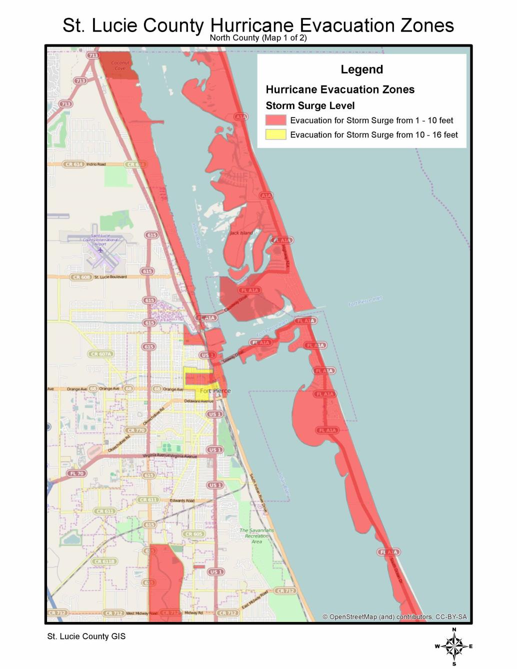 Hurricane Evacuation Zones for SLC North
