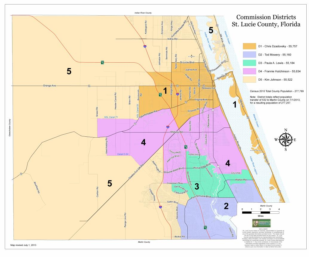 Florida City Map Boundaries.Map Gallery St Lucie County Fl