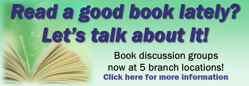 Information about Library book discussion groups