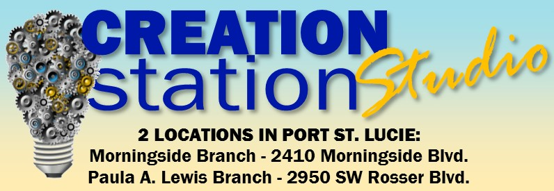 Creation Station, advanced graphics and audio software at Lewis and Morningside branch libraries
