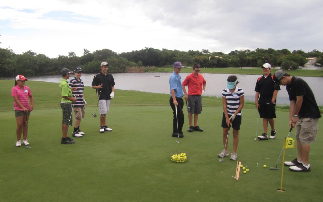Junior Golfers Putting