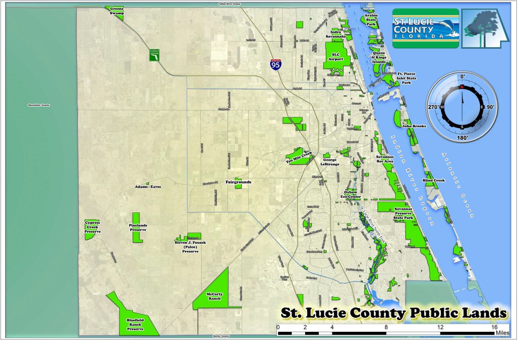 Map Of St Lucie County Florida.Preserves Of St Lucie County St Lucie County Fl
