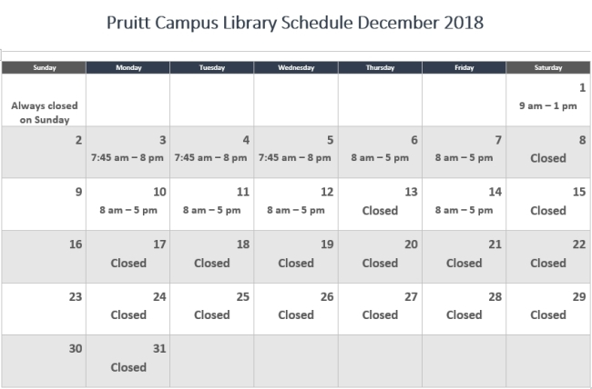 Pruitt Campus Map.Pruitt Campus Library Hours December 2018 St Lucie County Fl