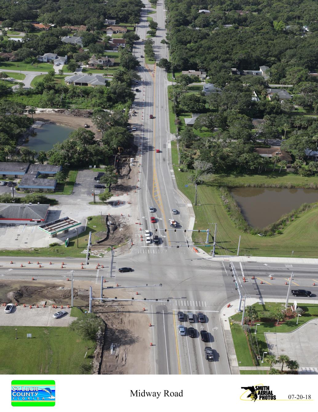 Intersection of S 25th St and Midway Rd from North
