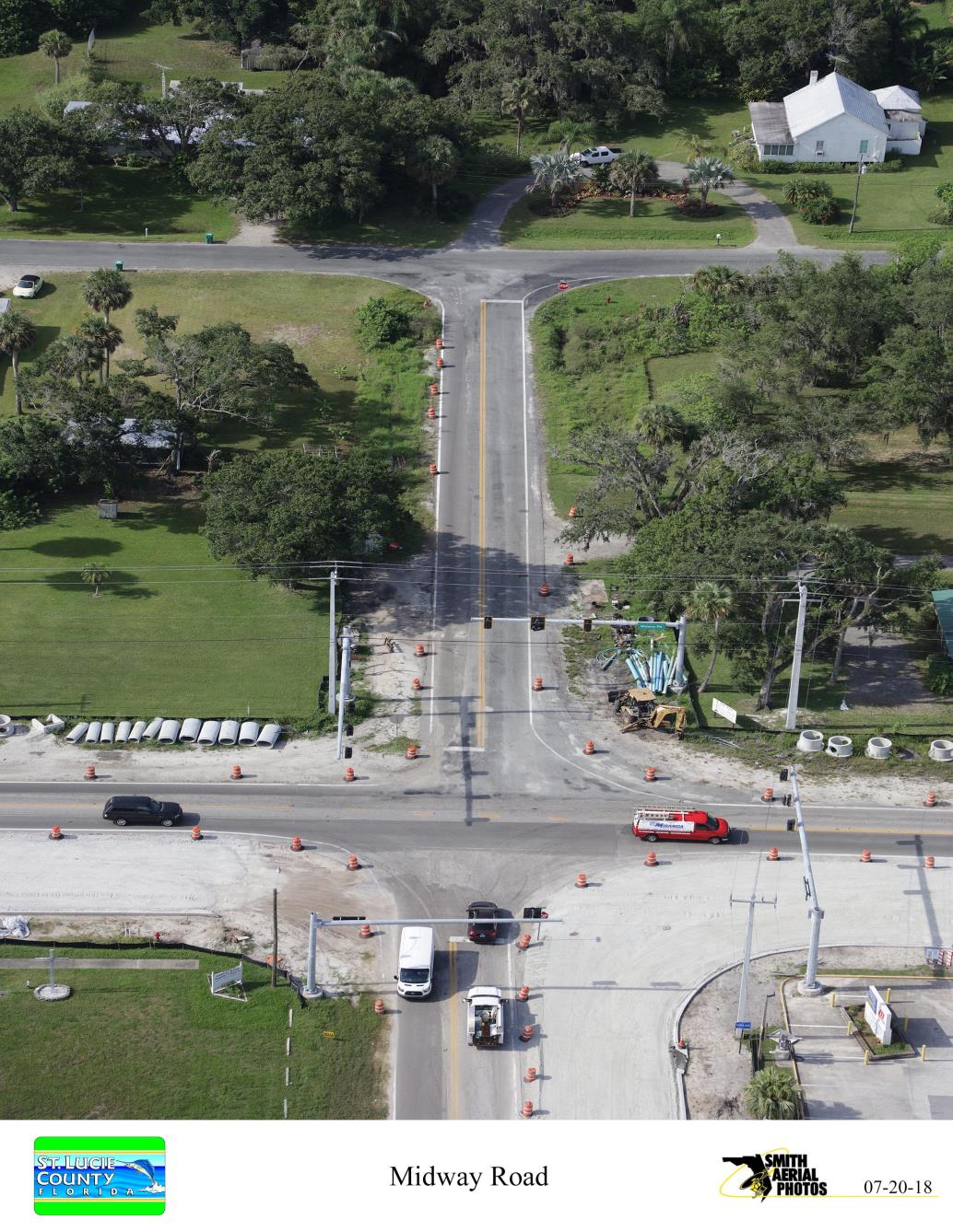 Intersection of Sunrise Blvd and Midway Rd from North
