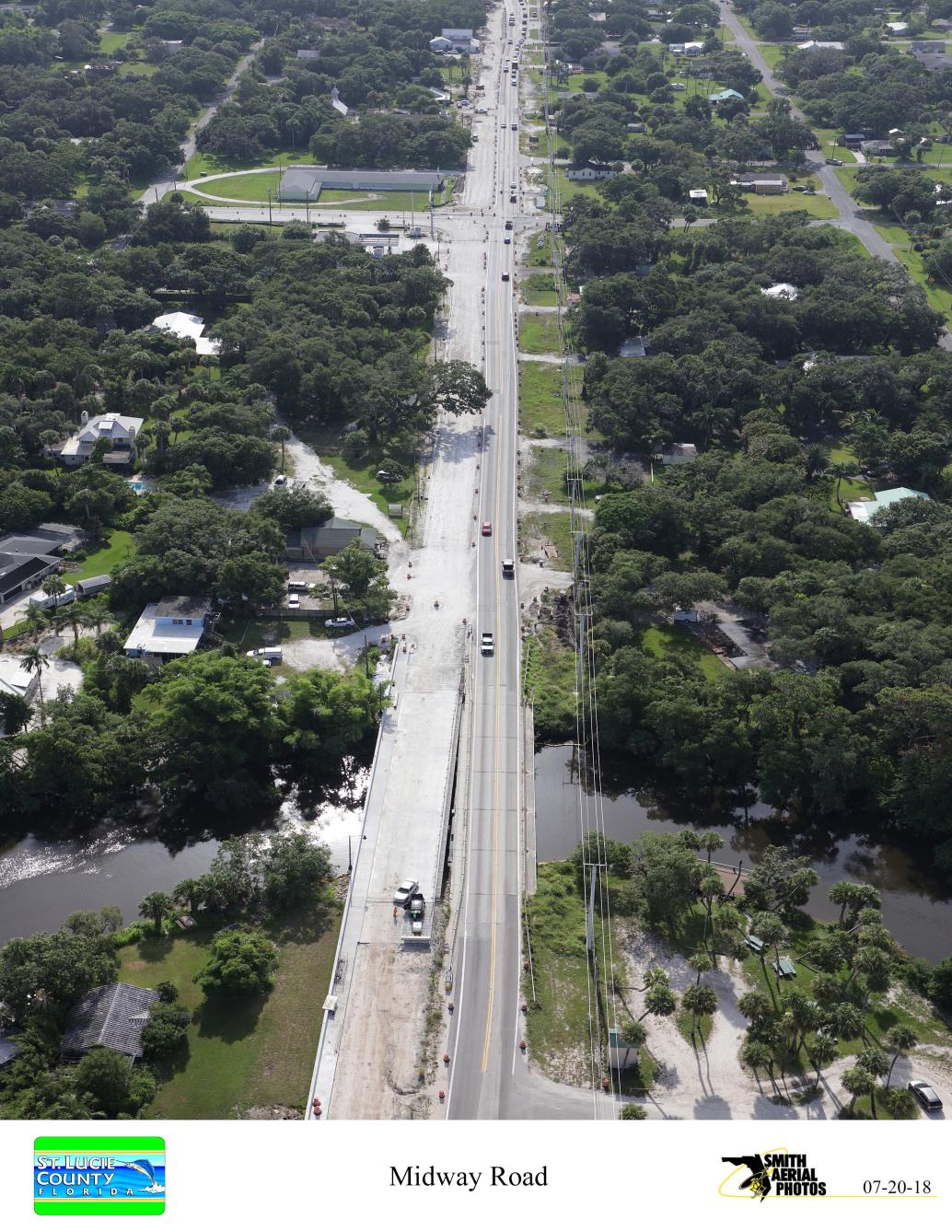 Midway Rd Bridge over St. Lucie RIver from West