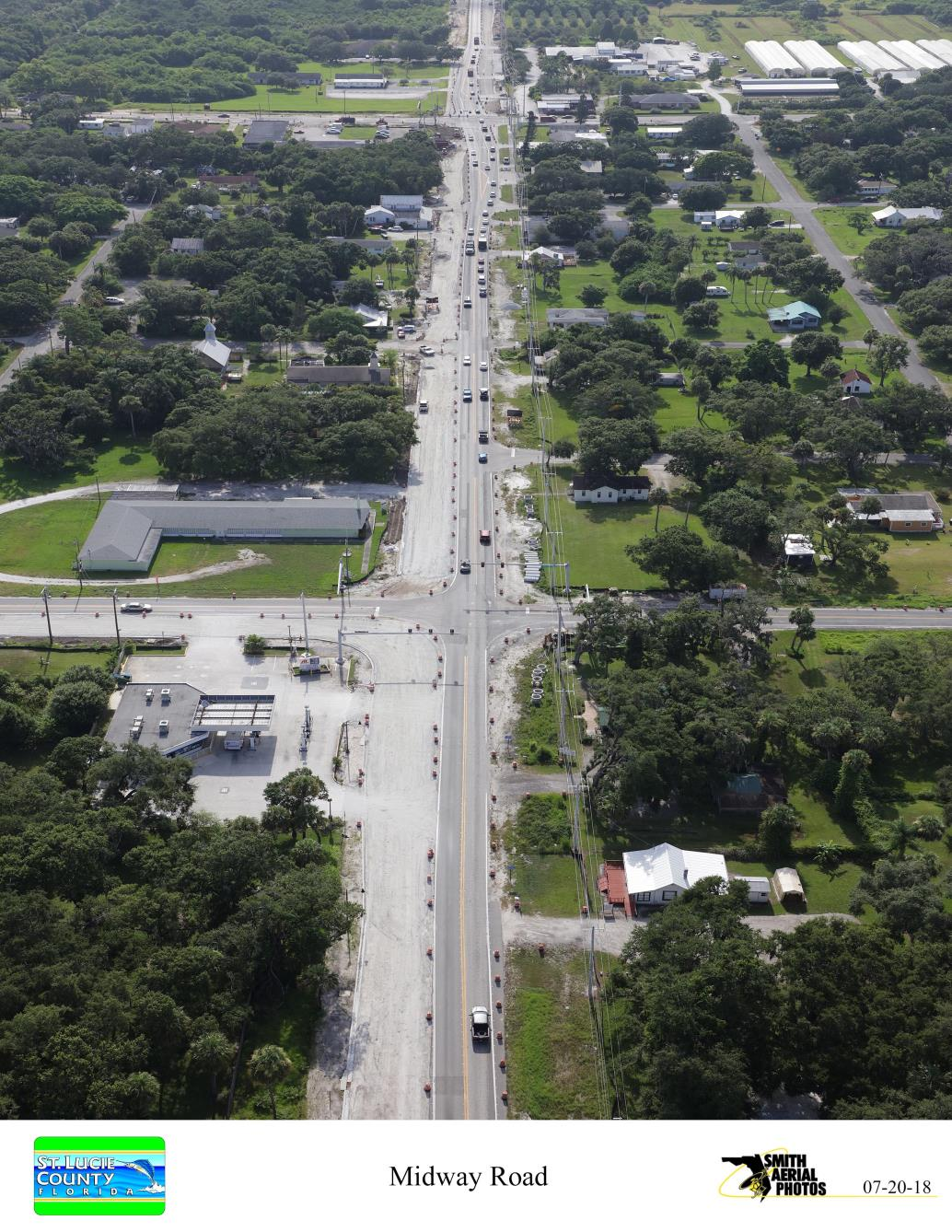 Midway Rd looking East from St. Lucie River