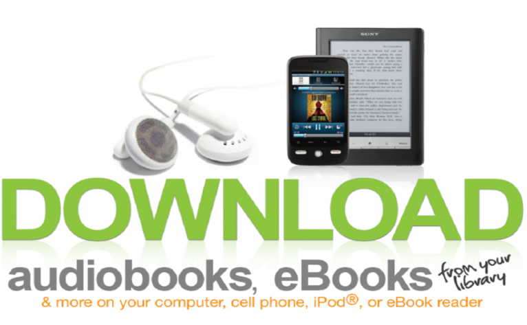 Download audiobooks and ebooks from your library. links to Overdrive.
