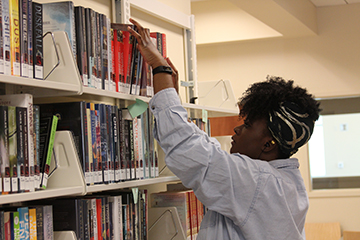 Lewis Library book shelf