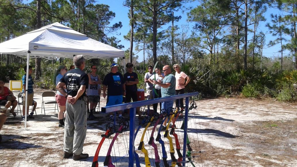 Photo of Archery Range with Participants.
