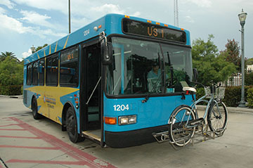Treasure Coast Connector Bus Route 1 with bike rake