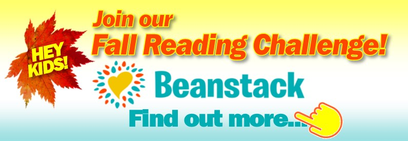 Fall Reading Challenge Beanstack Small Ad 2019
