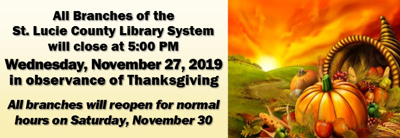 Thanksgiving Day closure Ad 2019