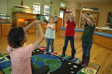 Toddlers at Oxbow Storytime