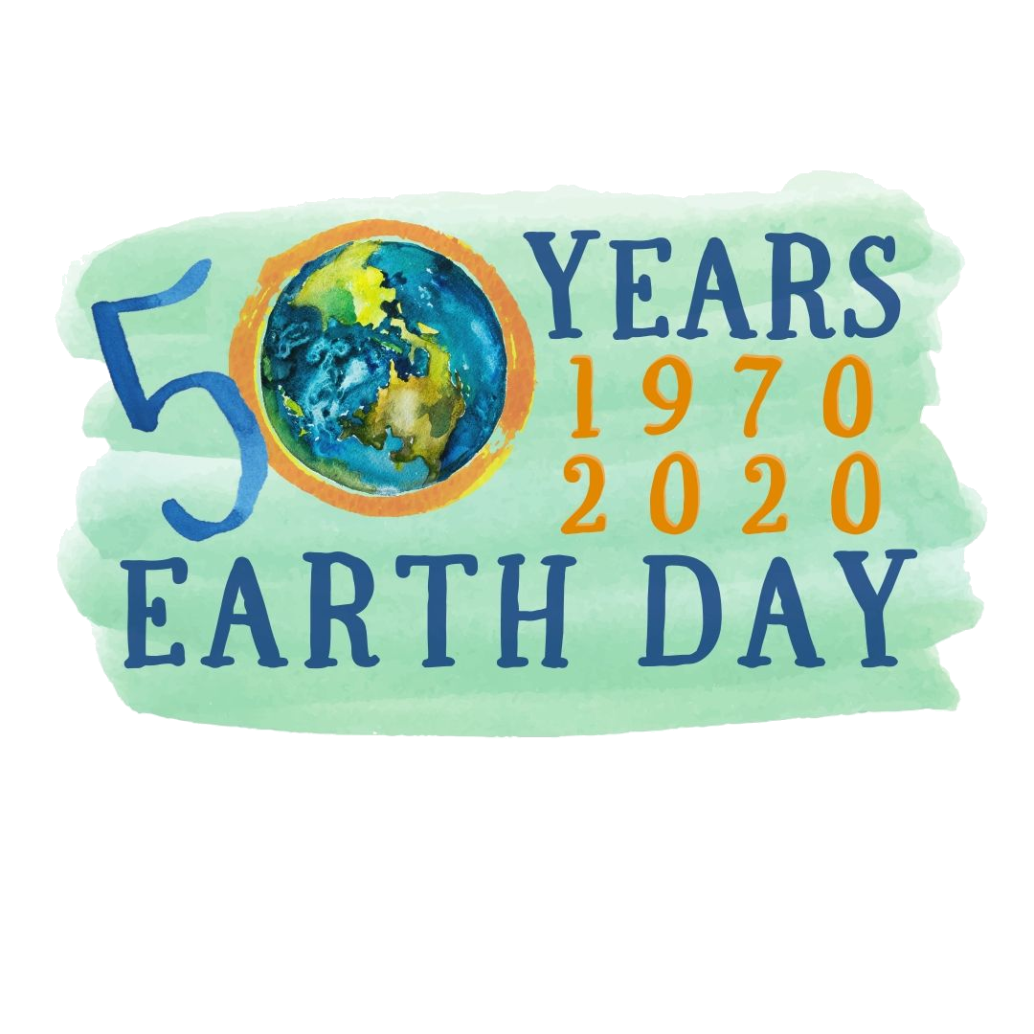 celebrating 50 years of earth day logo 1970 2020