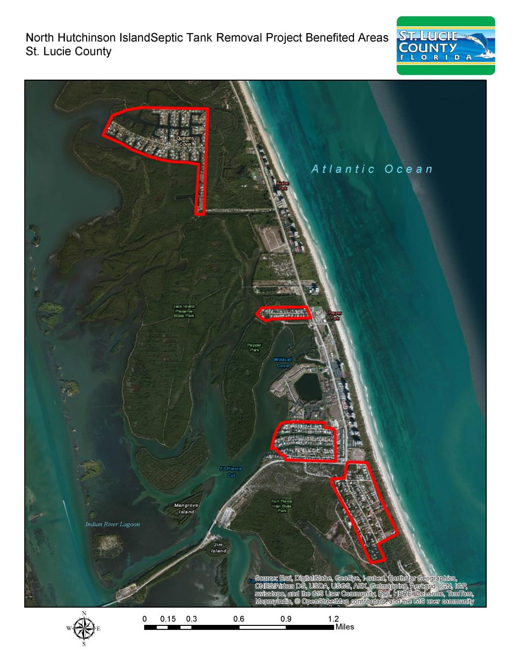 Hutchinson Island Florida Map.North Hutchinson Island Septic Removal Project St Lucie County Fl
